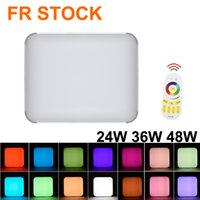 White Square LED Ceiling Light Fixture, Convenient and Durable 24W Thickened Panel Lamp for Bedroom, Kitchen, Bathroom, Hallway, Stairwell FR STOCK