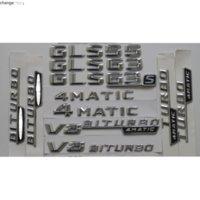 Chrome Shiny Silver Car Trunk Rear Number Letters Badge Emblem Emblems Sticker for Mercedes Benz GLS55 GLS63 GLS63s