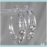 Stud Jewelryfactorybq0Jcross Large Earrings Ring Diamond Inlaid Personalized Ear Jewelry Drop Delivery 2021 7Ekkx