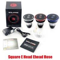 Square e Head Edead Kit 2400mah картридж покрасненный одноразовый кальян аккумуляторный e-головы испаритель