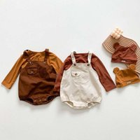 Clothing Sets Spring Korean Baby Girls Clothes Cotton Long Sleeve T-shirt+Denim Overalls Hat Outfit Toddler Boys Suit