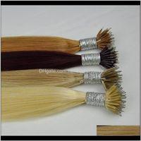 Vorgebundene Produkte FedEx Color 99J 18p60 613 12 Doppel DN Seide Gerade Brasilianische Nano Ring Haarverlängerungen 1g Strand 100g Lot Top Qualität