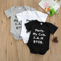 Rompers 0-24 Months Baby Boy Romper 2021 Summer Unique Letters Printing Triangle Jumpsuits For Born Boys Black White Gray Playsuit
