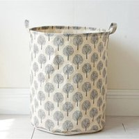 Hanging Baskets Foldable Waterproof Clean Cloth Laundry Basket Cleaning Bag Portable Bucket For Homeuse Case Living Room Bedroom
