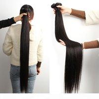 KISSHAIR 28 30 32 34 inch remy Brazilian human hair 3pcs cuticle aligned hair extension straight unprocessed raw Indian hair bundles