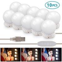 메이크업 미러 라이트 전구 세면도 LED 램프 키트 10pcs 할리우드 스타일 화장품 거울 조명 드레싱 테이블에 대 한 디 밍이 가능한 울트라 밝게