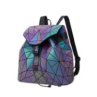 Double shoulder luminous backpack for men and women