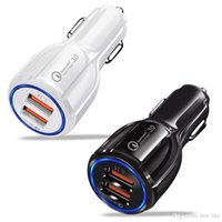 Caricabatteria da auto QC 3.0 Dual Port USB Porta USB ad alta velocità Adattatore 3.1A Adattatore per Samsung HTC Android Phone universale