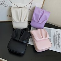 Çocuklar Manyetik Toka Çanta Kızlar Fırfır PU Deri Metal Zincir Messenger Çanta Tasarımcı Kadın Telefon Çantası Çanta Q0083