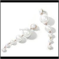 Cangle Chandelier Jewelry Trendy Elegant creado Grande Simuled Pearl Long Pearls String Declaration Pendientes para el regalo de la fiesta de bodas Drop Deli