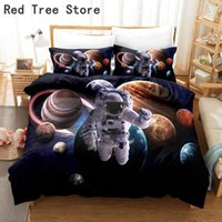 Bedding Sets Moon Astronaut Full Print Set Single Double King Size Planet Comforter Quilt Bedclothes Duvet Covers 2 3pcs Microfiber