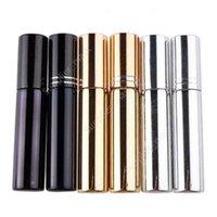 10ml d'atomiseur de placage UV mini bouteille de parfum de parfum portable rechargeable échantillon échantillon conteneurs vides or argent noir couleur dau31