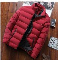 Men's Jackets 2021 Korean Style Stand Collar Men Ultra Parkas Jacket Winter Clothes Cotton Warm Male Coats Streetwear Plus Size