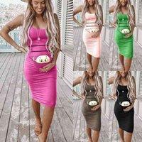 Long skirt 2021 summer new cartoon printed maternity dress
