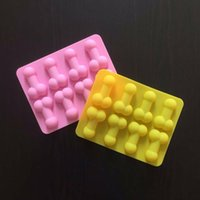 Baking Moulds Sexy Penis Cake Mold Dick Ice Cube Tray Silicone Soap Candle Molds Sugar Craft Tools Chocolate Form Mini Cream Forms