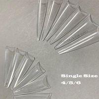 100pcs / 팩 엑스트라 롱 포인트 Stiletto 거짓 네일 팁 아크릴 젤 살롱 하프 커버 단일 크기 리필 팁 손톱