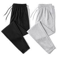 Casual Pantolon erkek Açık Yaz Trend Rahat Basit Siyah Gri Gevşek Ayaklar Spor Kadın Pantolon