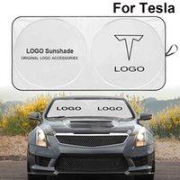 자동차 윈드 실드 선샤드 커버 바이저 프론트 창 엠블럼 태양 그늘 Tesla 편지 모델 3 x S Y 자동차 액세서리 자동차