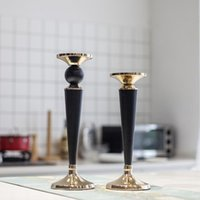 Candle Holders Romantic Metal Candlestick Decoration Living Room Coffee Table Bookcase Entrance