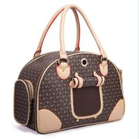 Dog Car Seat Covers Designer Luxury PU Leather Carrier Bag Pet Tote Quality Small Dog Cat Outdoor Portable Handbag