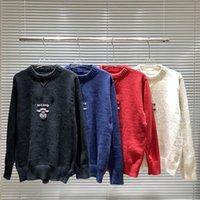 Ropa clásica de diseñador, 4 colores de moda y suéter casual, S - XXL, suéteres de los hombres de los hombres.