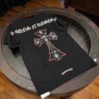 CH T-shirt Men And women Hotcroxin T-shirt 2021 Summer Fashion Brand New High-end Crosin Short Sleeve T-shirt Cross Sanskrit Print Men's and Women's Casual T-shirtbcabc