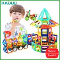 Kacuu 71-149pcs Big Size 3D FAI DA TE Costruttore Costruttore Building Blocks Designer magnetico Triangolo quadrato Illuminato Bricks Giocattoli per bambini Q0723
