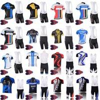 Respirável equipe gigante ciclismo manga curta jersey bib shorts conjuntos ropa ciclismo 9d gel pad mens verão camisas de verão maillot culotte f072210