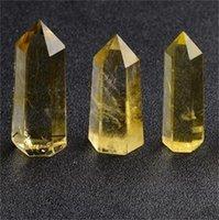 Natürlicher Citrin-Quarz-Kristall-Zauberstab-Punkt Reiki heilende Natursteine und Mineralien als Geschenk 596 S2