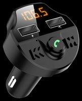 T66 Автомобильное беспроводное зарядное устройство MP3 Player 5.0 Bluetooth FM-передатчик Handsfree Audio Receiver 2.1a Dual USB быстрое зарядное устройство с пакетом