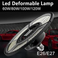المصابيح 100V-277V LED E27 مصباح المرآب E26 ضوء تشوه 60W 80W 100W 120W الاستشعار لمبة الصناعية مستودع الإضاءة 2835