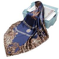 وشاح الحرير مصمم 90 * 90 سنتيمتر الأوشحة الكبيرة مربعة المرأة وشاح من المألوف