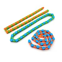 Latest Wacky Tracks Snap and Click Fidget Toys Snake Puzzles Tangle Toys for Kids Adults Party ADHD Autism Stress Relief Keeps Fingers Busy