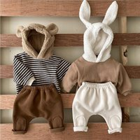 Clothing Sets Winter Infant Children's 2 Piece Set Baby Girls Boys Bear Cartoon Hoodies And Pant Outfits Suit For Born Kids