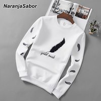 Men's Hoodies & Sweatshirts O-neck Sleeve Spring And Autumn Casual Sports Shirts Solid Color Street High-quality T-shirts Fashion Clothing