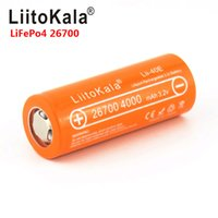 LIITOKALA LII-40E 3.2 V 26700 Şarj Edilebilir LIFECO4 Pil Paketi 4000 mAh Lityum Hücre 24 V E-Bike Güç HID Solar Işık için 26650