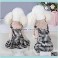 Pet Supplies Home & Gardenpet Dog Apparel Sping And Summe Clothes Loves Thousand Bid Lattice Teddy Small Pincess Backpack Skit Clothesuqac D
