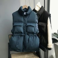 겨울 봄 따뜻한 조끼 2021 짧고 긴 허리 양면 양복 조끼가 굵고 긴 허리 여성 복어 자켓