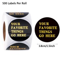 500pcs Round DIY Thank You Sticker For Supporting A Business Package Seal Label Wedding Handmade Gift Scrapbooking Decor Wrap