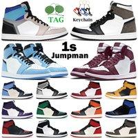 2021 air jordan retro homens mulheres sapatos de basquete 1s high og 1 hyper real chicago obsidian universidade azul escuro mocha digital rosa mens treinadores sneakers