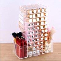 Bathroom Storage & Organization HUNYOO Large Capacity 360 Degree Rotating Makeup Box Pearl Brush Barrel Mac Lipstick Display Props