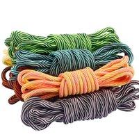 2021 Neue Schnürsenkel Unisex-Seile Multicolor Wached Rundschnur Kleid Schuhschnellen DIY Hohe Qualität Feste 100-150 cm Bunte Schnürsenkel