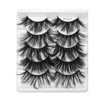 Ungraded 5 Pairs 25mm 3D Faux Mink Lashes Mixed Styles Fluff...
