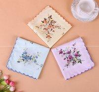 Handkerchief Floral Floral Mulheres Bordadas Handkerichs Flor Lady Hankies Mini Squarescarf Boutique Bolso Toalha EEB6431