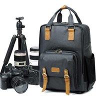 배낭 방수 캔버스 남성 여성 대형 캐논 / 니콘 카메라 첨탑 Traval DSLR 가방 고품질