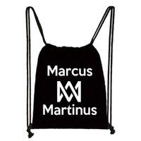 Backpack Marcus And Martinus Print Drawstring Bag Boys Girls Storage Bags Teenager Casual Kids Bookbag Gift