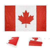 Canada Flags Polyester Square Garden Flag Red Canadian National Day Maple Leaf Pattern CA Banner 90*150CM FWB7760