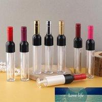 Tubos de brillo de labios con forma de vino de 5 ml Esmalte de lápiz labial vacío Plata / Oro / Rojo / Rosa Botella Refiliable Contenedor de envasado cosmético