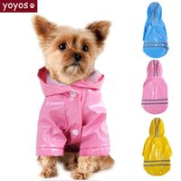 Dog Apparel Summer Outdoor Puppy Pet Rain Coat S-XL Hoody Waterproof Jackets PU Raincoat For Dogs Cats Clothes Wholesale