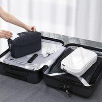 Baseus المحمولة السفر الملحقات حقيبة التخزين أدوات الإلكترونية شاحن كابل منظم البريدي حقيبة ماء ماكياج حقيبة مستحضرات التجميل 1338 v2